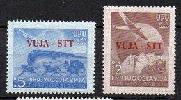 1949 Trieste B Anniversario UPU N. 17 -18 Serie Completa Nuovo MLH* - Trieste