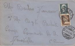 A/6 - BUSTA - 2 VALORi  - Cent.15 E Cent.10 - - 1900-44 Vittorio Emanuele III