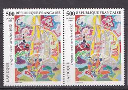 N° 2606 Série Artistique: Régates Vent Arrière De Lapicque: Belle Paire De 2 Timbres Neuf Impeccable - France