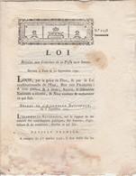 12/9/1791 - 1258 - Loi Relative Aux Courriers De La Poste Aux Lettres - Imprimerie Heirisson Carcassonne Aude - 8 Pages - Historical Documents