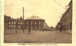 COURCELLES  Route De La Motte Et Place Du Trieu. - Courcelles