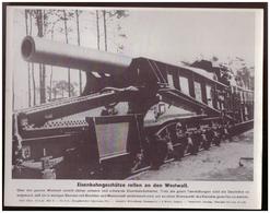 Dt- Reich (007841) Propagandasammelbild, Bilderdienst Weber Leipzig, Eisenbahngeschütze Rollen An Den Westwall - Deutschland