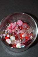Beau Lot De 90gr Perles à Diminante Coloris Rouge (verre, Céramique, Synthétique) - Perles