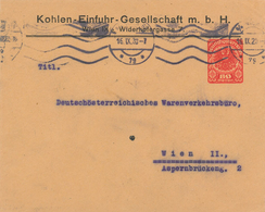Ganzsache Privat Kohlen-Einfuhr-Gesellschaft Wien 1920 Ab Deutsch-österreichisches Warenverkehrsbüro - 1918-1945 1. Republik