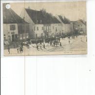 70-PESMES LA SOCIETE CHORALE DE GRAY ET LE RALLYE GRAYLOIS CARTE MOLLE ET EN PARTIE DECOLLEE - Pesmes