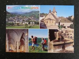 RIOM ES MONTAGNES - CANTAL - MULTIVUES - EGLISE SAINT GEORGES FONTAINE - France