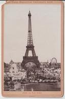 Paris Exposition Universelle De 1900 La Tour Eiffel (grande Roue) Photo 14,5cmx9,5cm Sur Carton 16,5cmx10, 5cm Poids 14g - Tour Eiffel