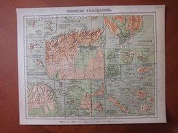 Colonies Françaises Dont Madagascar Et Réunion : Rare Carte En Relief Par Henri Mager (1885) - Cartes Géographiques