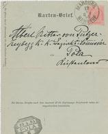 Kartenbrief Marburg Bahnhof 1895 Nach Pola Pula - An Albert Ritter Von Putzer Reybegg [sein Vater Judaica] - 1850-1918 Empire