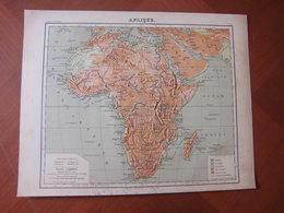 Afrique, Madagascar, Mascareignes, Réunion... : Rare Carte En Relief Par Henri Mager (1885) - Cartes Géographiques