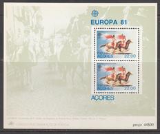 Azoren MNH Michel Nr Block 2 From 1981 / Catw 4.00 EUR CEPT - Azores