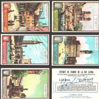 Liebig - Vintage Chromos - Series Of 6 / Série Complète - Places Célèbres D'Italie - En Français - Italia - Liebig