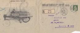 LETTRE .  SUISSE. 1916. RECOMMANDÉ EDOUARD DUBIED & C° COUVET POUR PARIS. CENSURE MILITAIRE - Schweiz