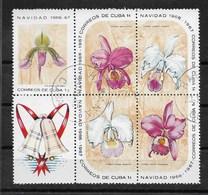 CUBA ORCHIDEES Bloc Complet 5 T. Oblitérés YT 1065/1069 Cote 2006 = 2.50 Euros - Gebraucht