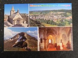 RIOM ES MONTAGNES - CANTAL - MULTIVUES - EGLISE SAINT GEORGES - France
