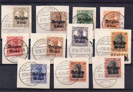 OC10 à 20 Sur Fragment Avec Oblitération SINT-PIETERS JETTE - Weltkrieg 1914-18