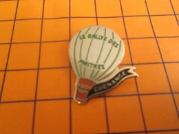 611c Pin's Pins / Beau Et Rare / Thème MONTGOLFIERES / BALLON LIBRE LE RALLYE DES MAITRES CAFE MANGE - Mongolfiere