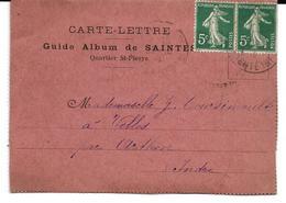SAINTES Carte Lettre Guide Album De 10 Vues - Saintes