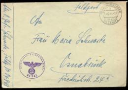 P0373 - DR Propaganda Feldpost Briefumschlag Mit Landpoststempel : Gebraucht Regenwurmlager über Meseritz - Osnabrück - Germany