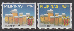 1990 Philippines Beer Complete Set Of 2 MNH - Philippines