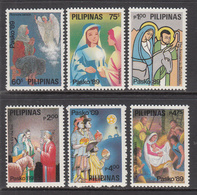 1989 Philippines Christmas Noel  Complete Set Of 6 MNH - Philippines