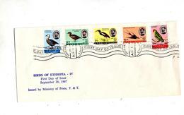 Lettre Fdc 1967 Oiseau - Ethiopië