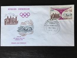 400 Mètres Nage Libre Taylor Londres 1908 Premier Jour Jeux Olympiques République Centrafricaine 1972 - Schwimmen