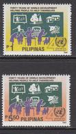 1990 Philippines UNDP Development Programme  Agriculture Industry  Complete Set Of 2 MNH - Filippijnen