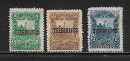 NICARAGUA  ( AMNI - 58 )  1892  N° YVERT ET TELLIER  TELEGRAPHE N° 22/24 N* - Nicaragua