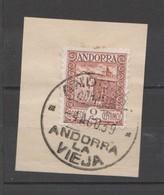 ANDORRA CORREO ESPAÑOL SELLO Nº 28 CON UN BONITO MATA SELLOS ((S.1.B)0 - Andorra Española