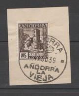 ANDORRA CORREO ESPAÑOL SELLO Nº 29 CON UN BONITO MATA SELLOS ((S.1.B)0 - Andorra Española