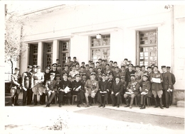 Photographie Militaire, Officiers Français En Algérie, Photo Hajduska Sidi-Bel-Abbès, Toutes Armes Dont Marins - War, Military