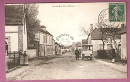 Cpa Romilly Sur Seine Grande Rue Des 3 Maisons - Automobile - Romilly-sur-Seine