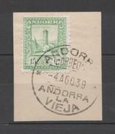 ANDORRA CORREO ESPAÑOL SELLO Nº 32 CON UN BONITO MATA SELLOS ((S.1.B)0 - Andorra Española