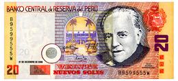PERU 20 NUEVOS SOLES 2006 Pick 176c Unc - Peru