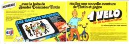 "PUB BOITE De BANDES DESSINEES  "" TINTIN ""  1975 (1) - Livres, BD, Revues"