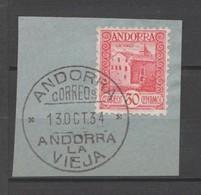 ANDORRA CORREO ESPAÑOL SELLO Nº 36 CON UN BONITO MATA SELLOS ((S.1.B)0 - Andorra Española