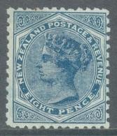 NZ - 1885 - MLH/* - VICTORIA - SG 202 W 12b - Yv 65 Mi 59A - SMALL BROWN TRACE - Lot 20764 - Ongebruikt