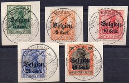 OC12-13-14-18-19 Sur Fragment Avec Oblitération VIREUX-MOLHAIN (FRANKREICH) - WW I