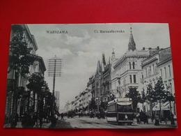 WARSZAWA UL MARSZALKOWSKA TRAMWAY - Polonia