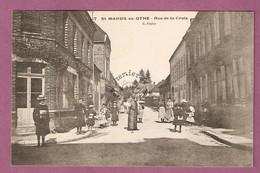 Cpa St Mards En Othe Rue De La Croix - éditeur C Bruley - Francia