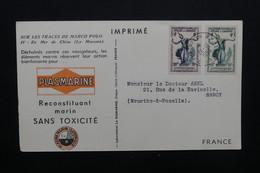 CAMBODGE - Carte Publicitaire ( Biomarine De Dieppe ) Pour La France En 1953, Affranchissement Plaisant - L 48925 - Cambodge