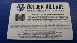 RARE - SMART MOVIE CARD GOLDEN VILLAGE - SINGAPORE - CINECARTE - Singapour