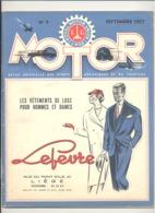 "Revue "" MOTOR "" Du Royal Motor Union Liège N°9 De 1957 - Auto, Moto, Oldtimer  (b271) - Auto/Motor"