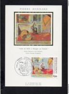 06 Pierre Bonnard Artiste Peintre Né à Le Cannet / Carte Maximum Premier Jour,cachet Paris 1984 - Le Cannet