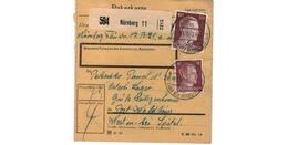ALLEMAGNE  /  COLIS-POSTAL / De Nürnberg / Pour Waldheim - Spittel / 25-11-43 - Storia Postale