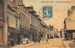 NOGENT SUR SEINE - Grande Rue St Laurent (carte Toilée) - Nogent-sur-Seine