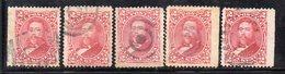 XP4443 - HAWAII 1882 , Yvert N. 30 : Cinque Valori  Usati (2380A) - Hawai