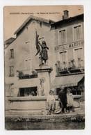- CPA ROSIÈRES (43) - La Fontaine Jeanne-d'Arc (avec Personnages) - Cliché Chirol - - France