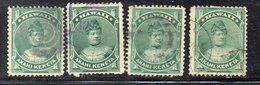 XP4450 - HAWAII 1883 , Yvert N. 34 : Quattro Valori  Usati (2380A) - Hawai